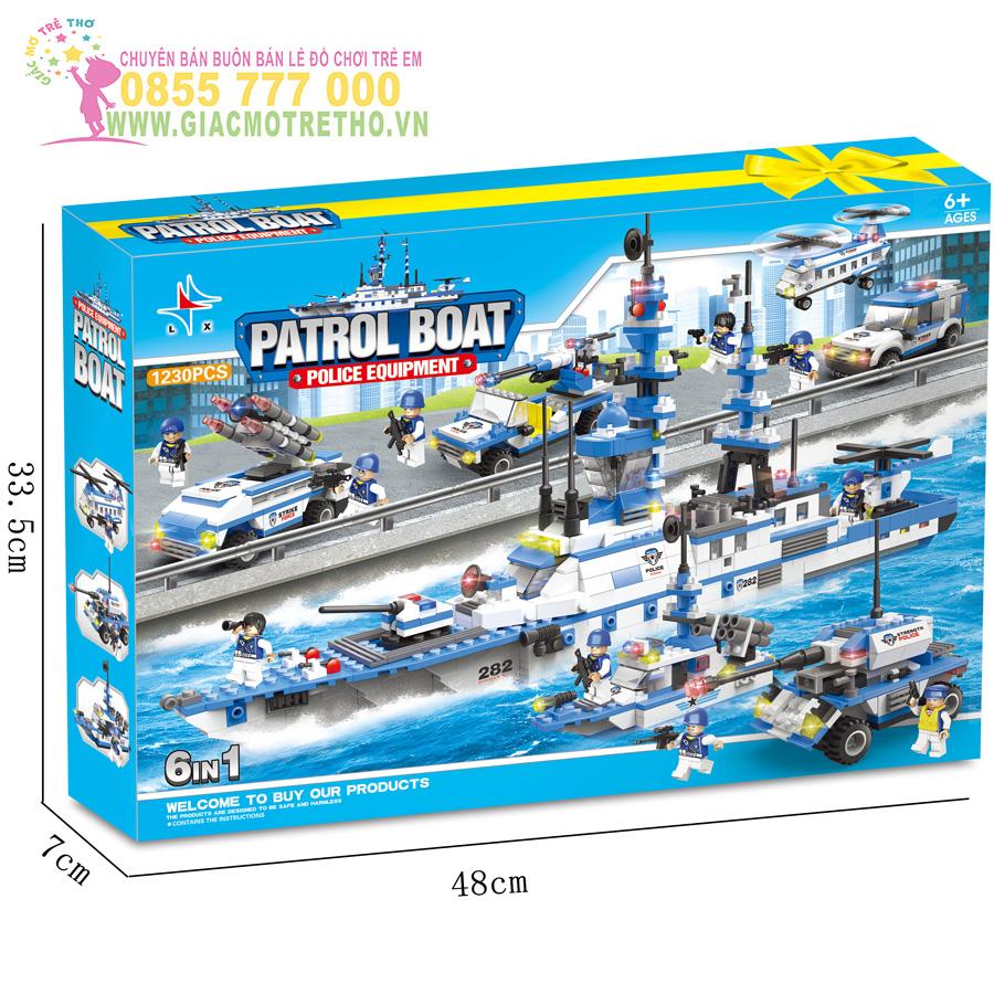 Bộ đồ chơi ghép hình tàu chiến LX A282