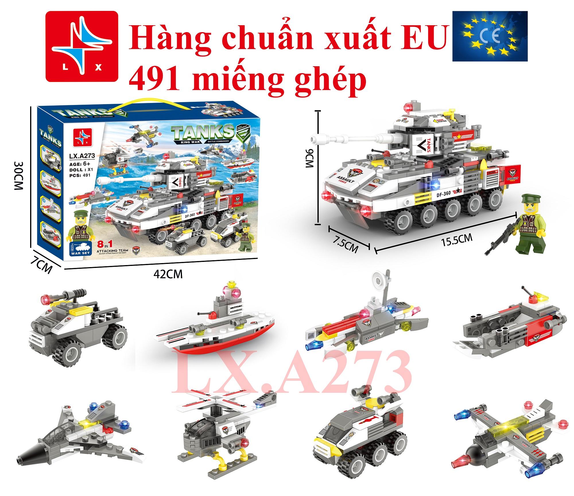 Bộ đồ chơi ghép hình xe tăng LX. A273