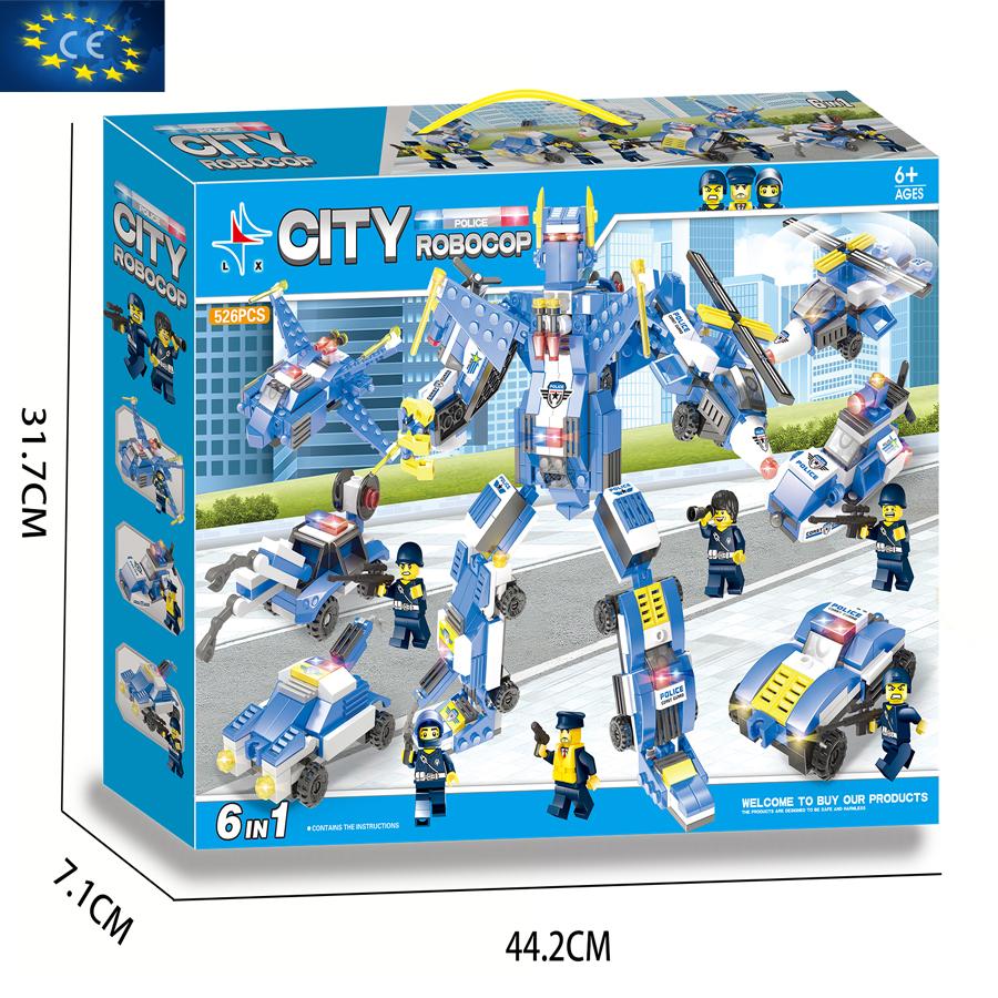 Bộ đồ chơi ghép hình siêu ROBOT LX.A334