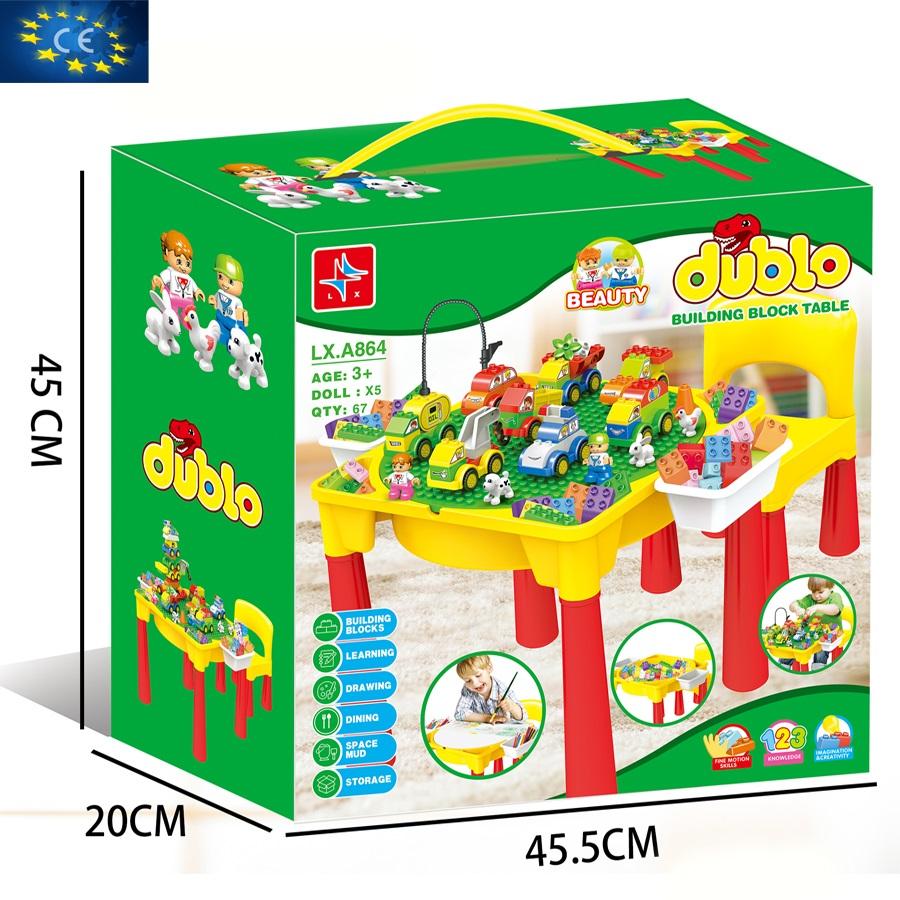 Bộ đồ chơi bàn ghép hình DUBLO LX. A864